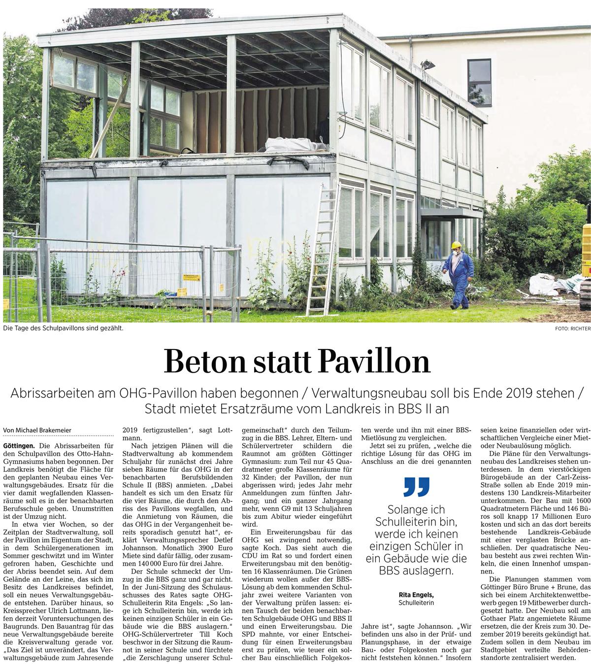 Pressespiegel – Otto-Hahn-Gymnasium Göttingen